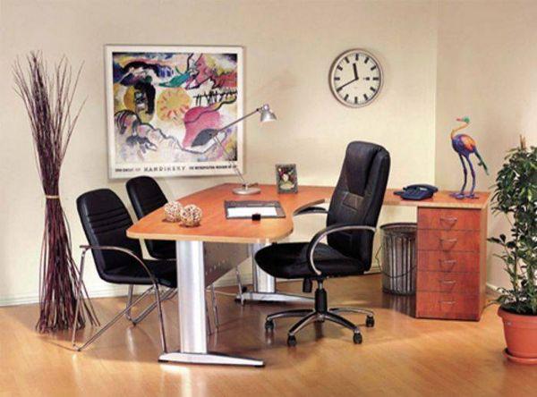שולחן מזכירה גל רגל מתכת-167