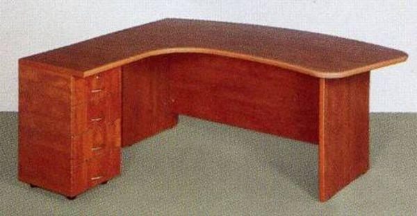 שולחן מזכירה ארגונומי רגל עץ-164